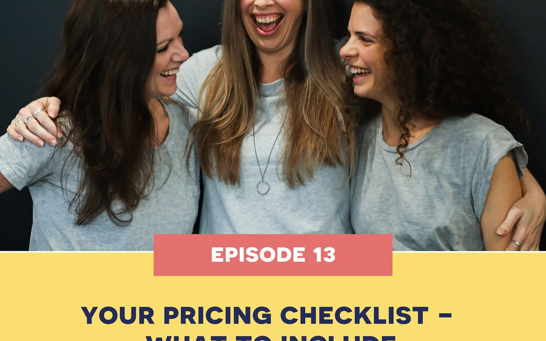13: Your pricing checklist – what to include