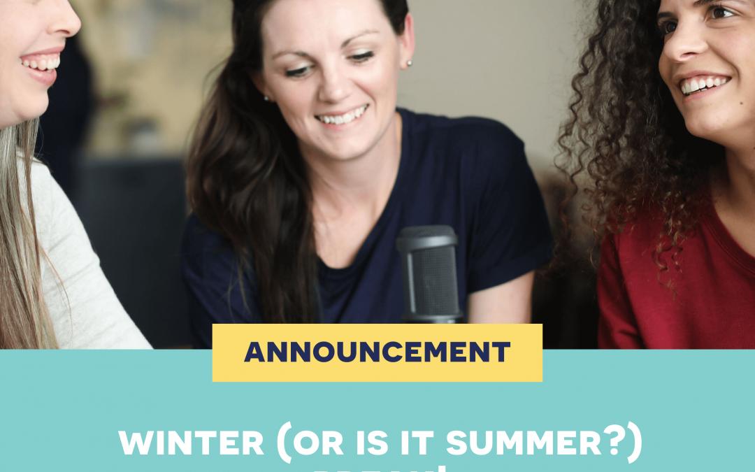 Short announcement – be back soon!